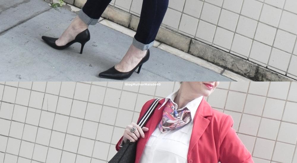 calça jeans blazer vermelho 5