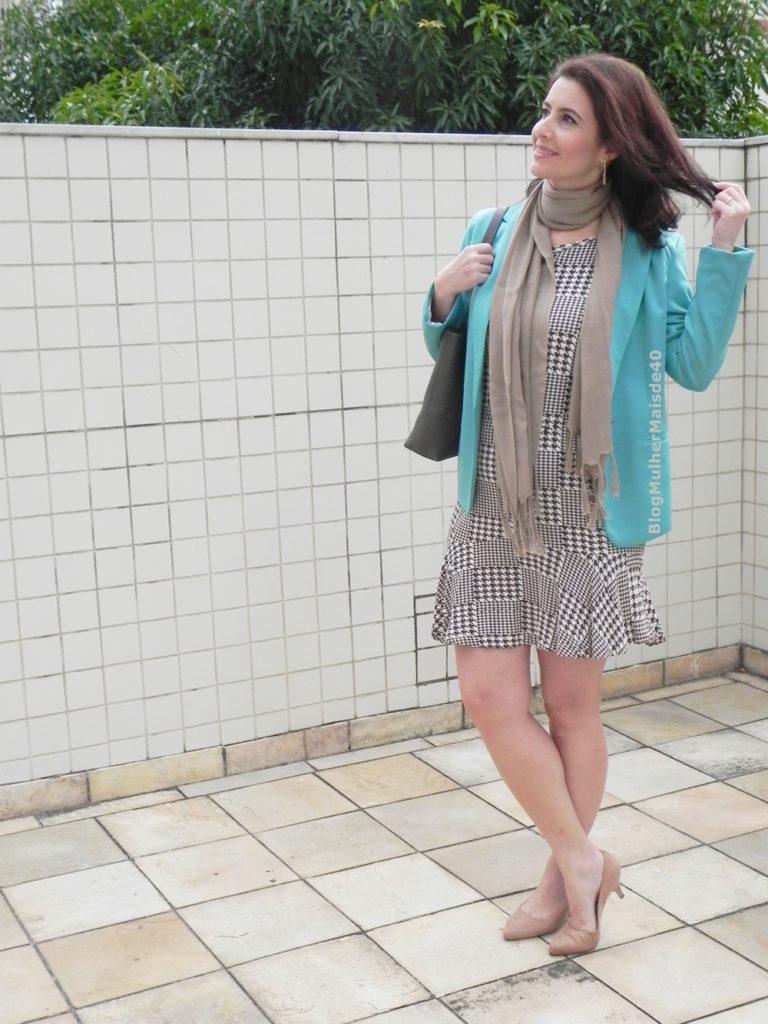 vestido xadrez blazer verde 3