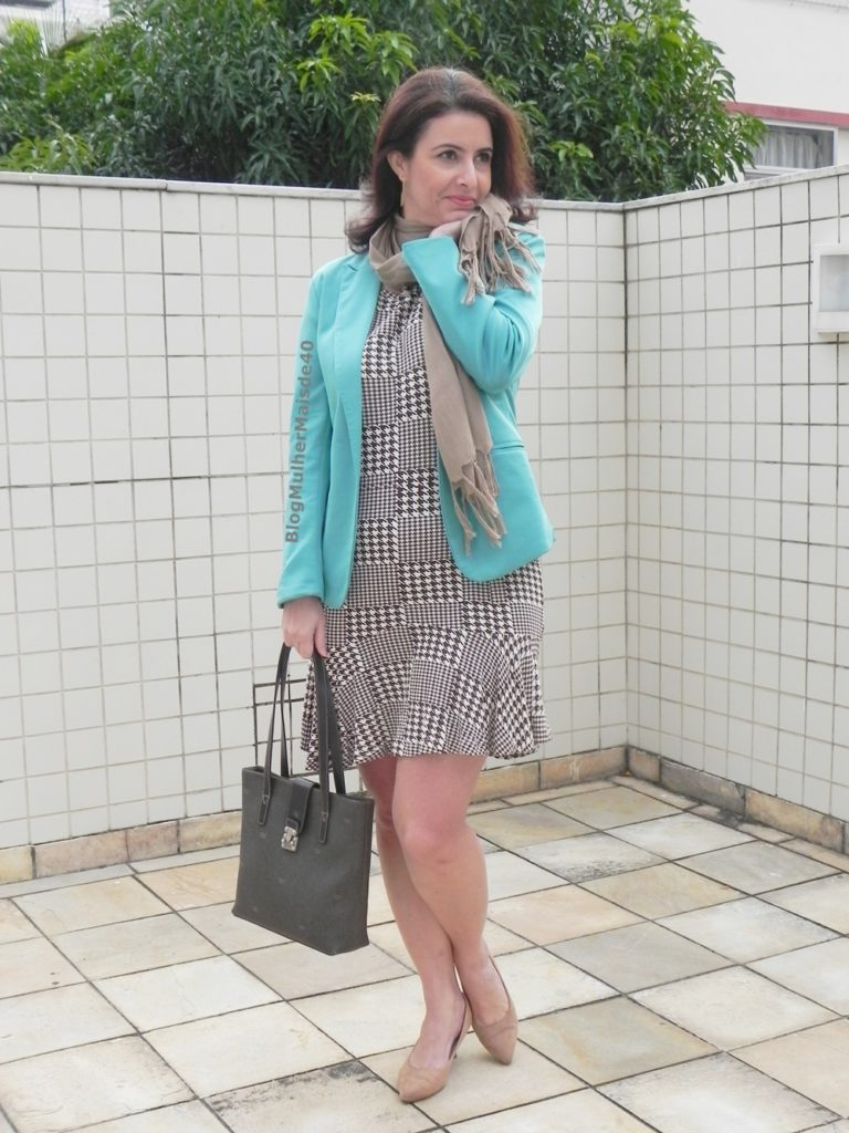 vestido xadrez blazer verde 4
