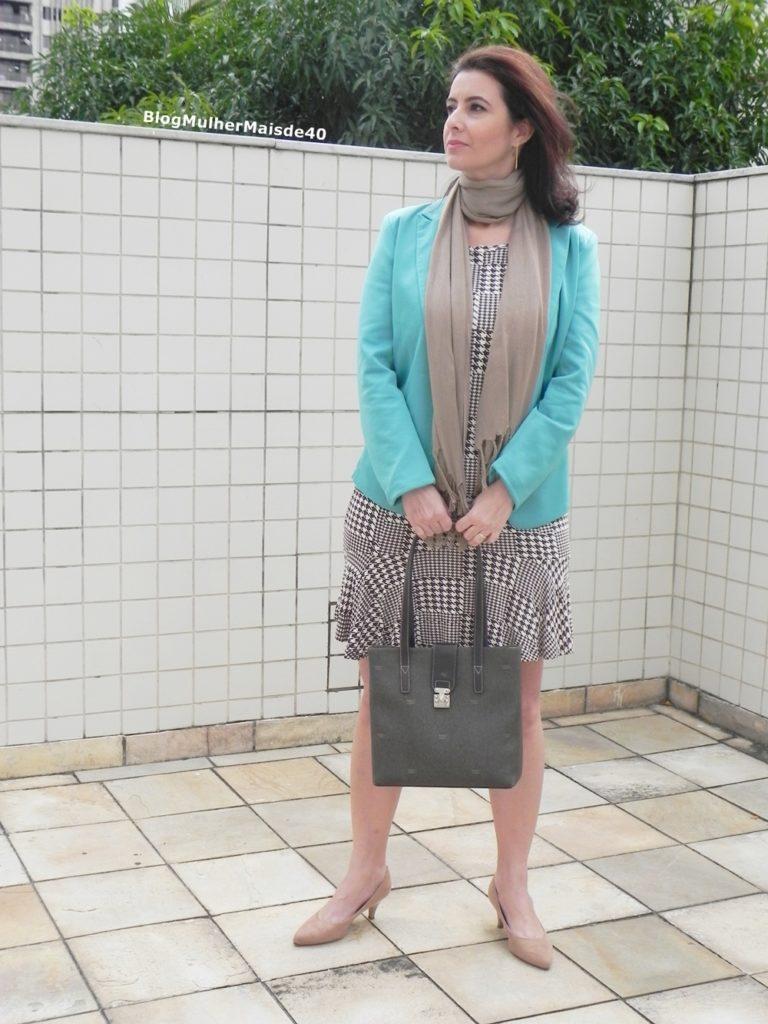 vestido xadrez blazer verde 5