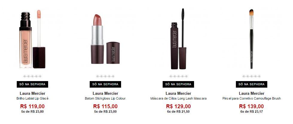 Produtos Laura Mercier disponíveis na Sephora