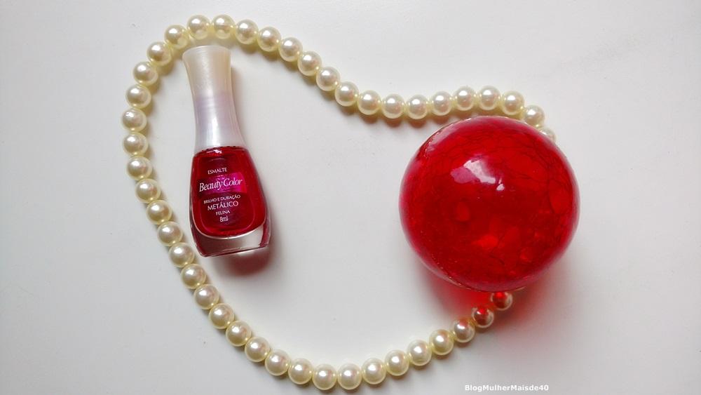 esmalte vermelho da beauty color felina metalico