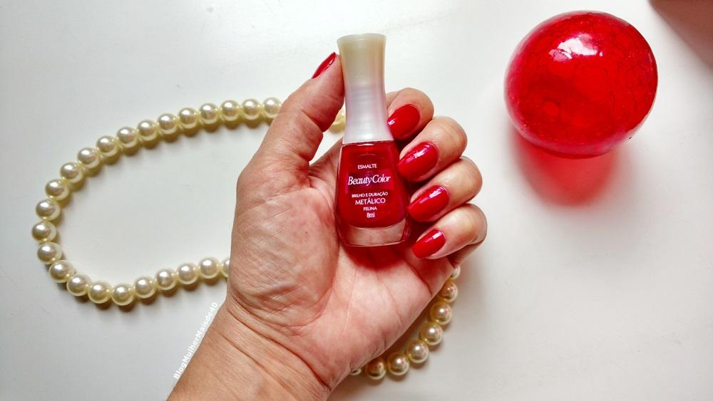 esmalte vermelho da beauty color felina metalico 4