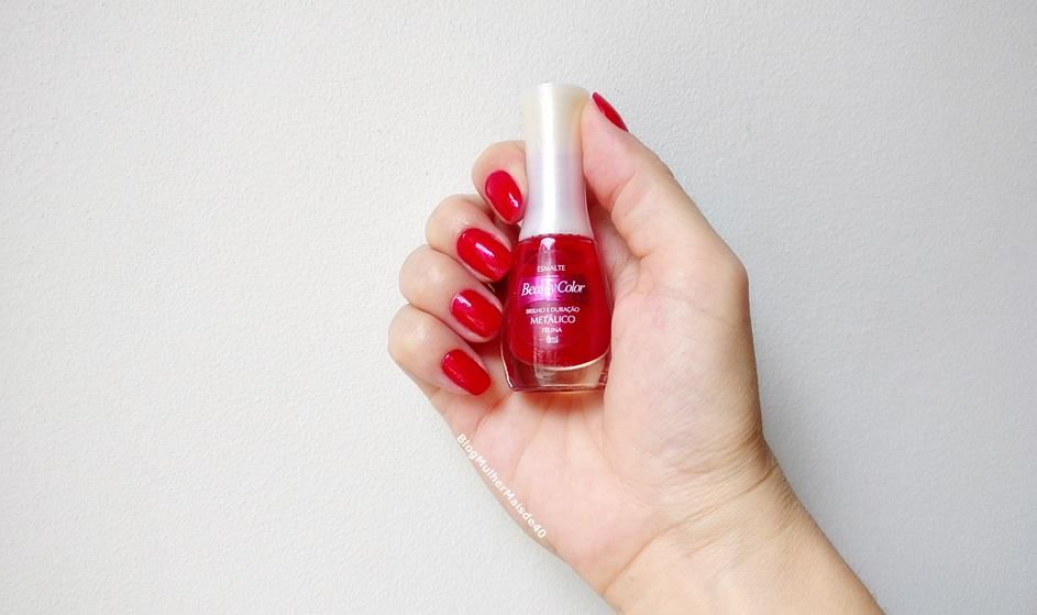 esmalte vermelho da beauty color felina metalico 2