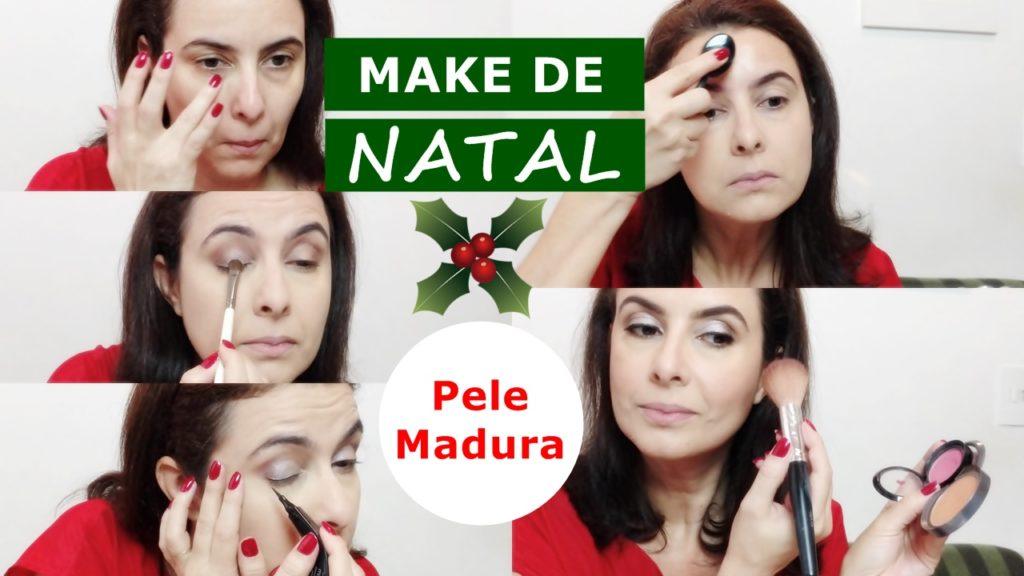 Maquiagem de natal para pele madura