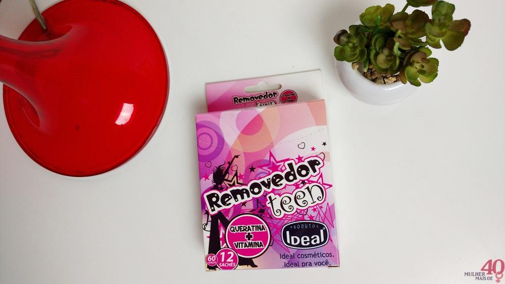 Lenços removedores de esmalte Teen Queratina e Vitamina Ideal Cosméticos