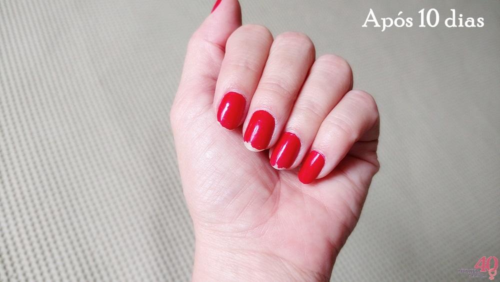 Red esmalte da Revlon após 10 dias