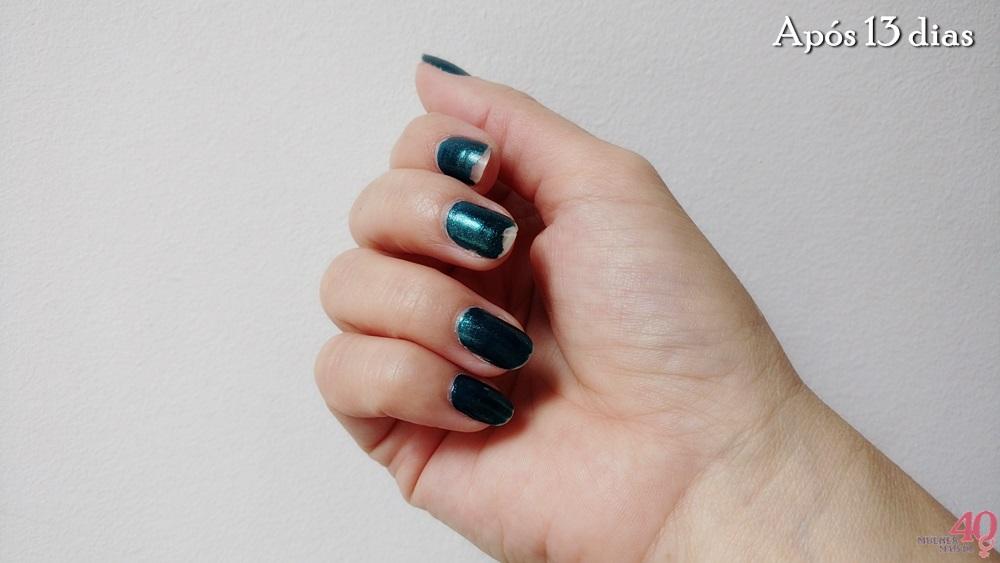 Esmalte metálico Beautycolor Salto Agulha após 13 dias