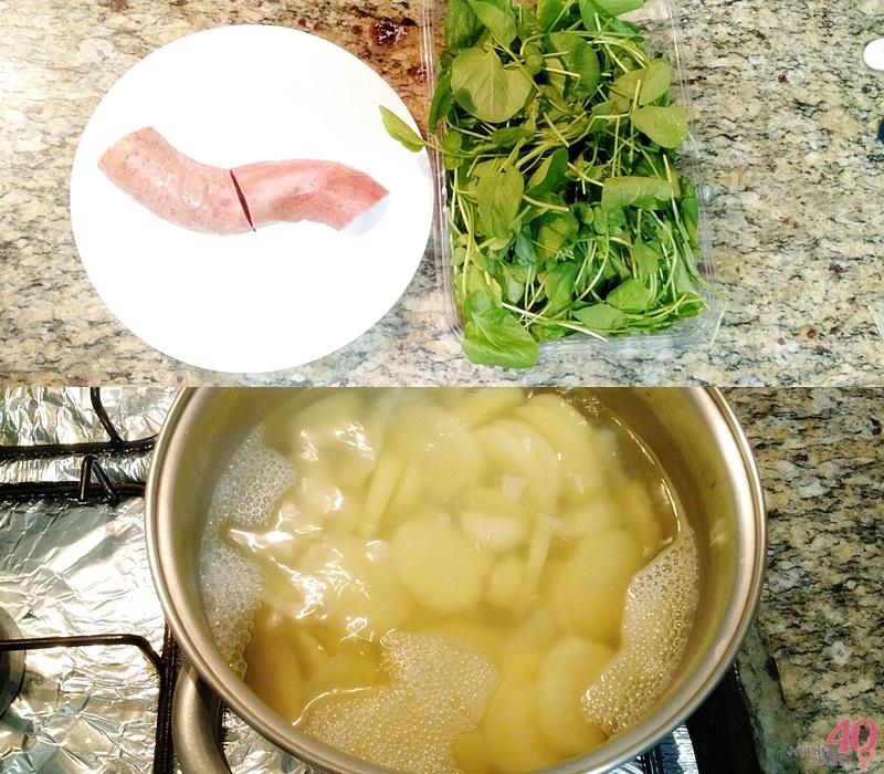 Caldo verde com agrião ingredientes