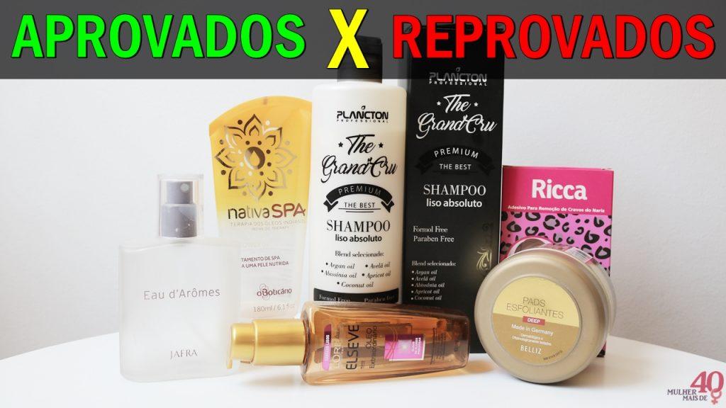produtos aprovados e reprovados
