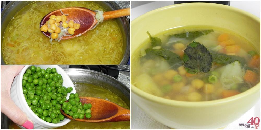 Sopa de Grão de Bico ingredientes para misturar