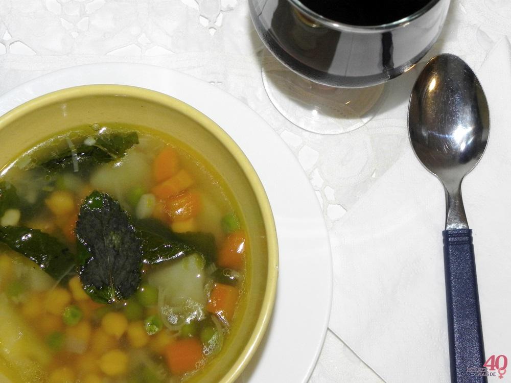 Sopa de Grão de Bico apresentação