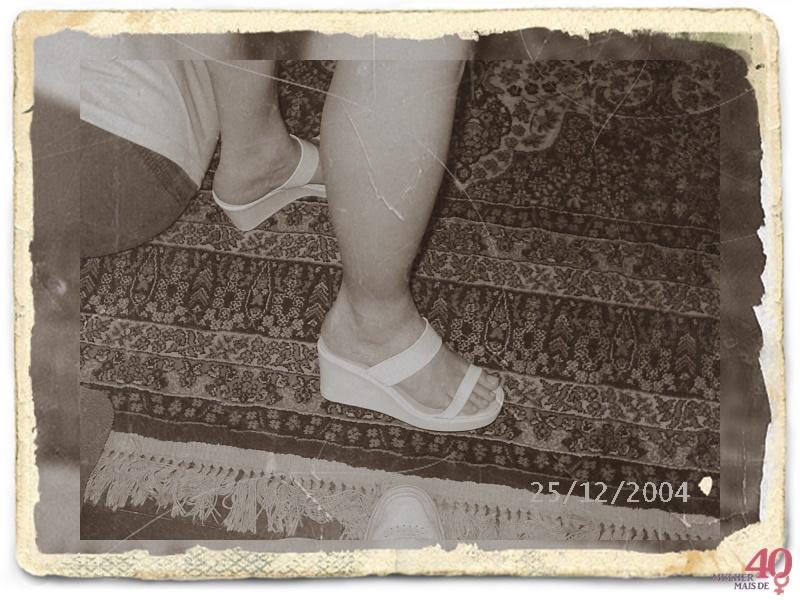calçados brancos - anabela de 2004