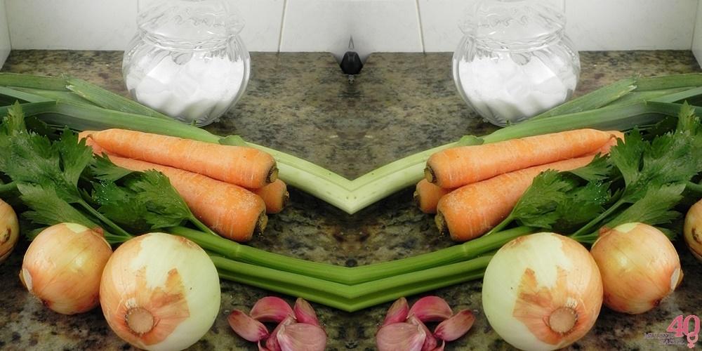Consomê de Legumes ingredientes