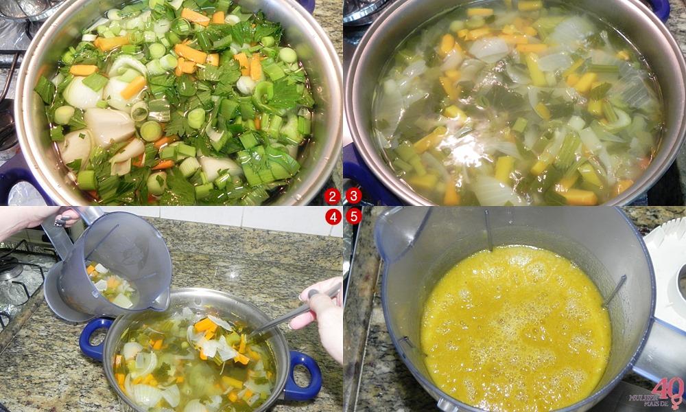 Consomê de Legumes preparação