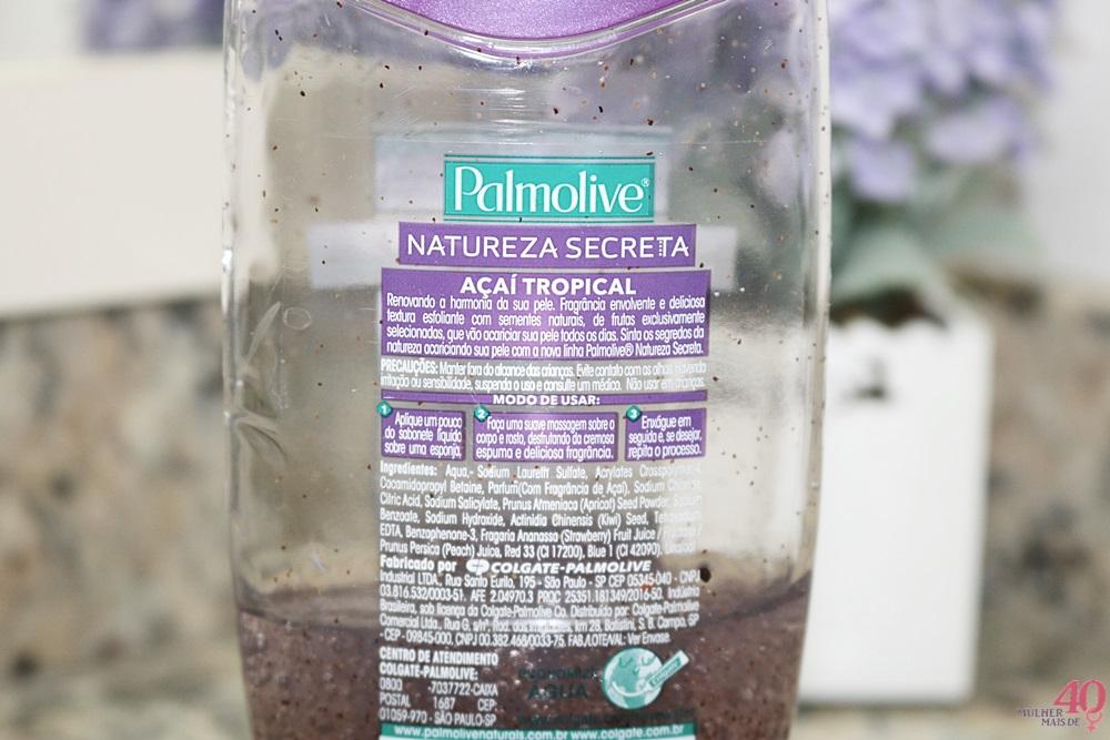 Sabonete líquido esfoliante Açaí Palmolive descrição