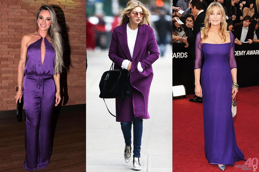ULTRA VIOLET - A cor do ano 2018 looks completos