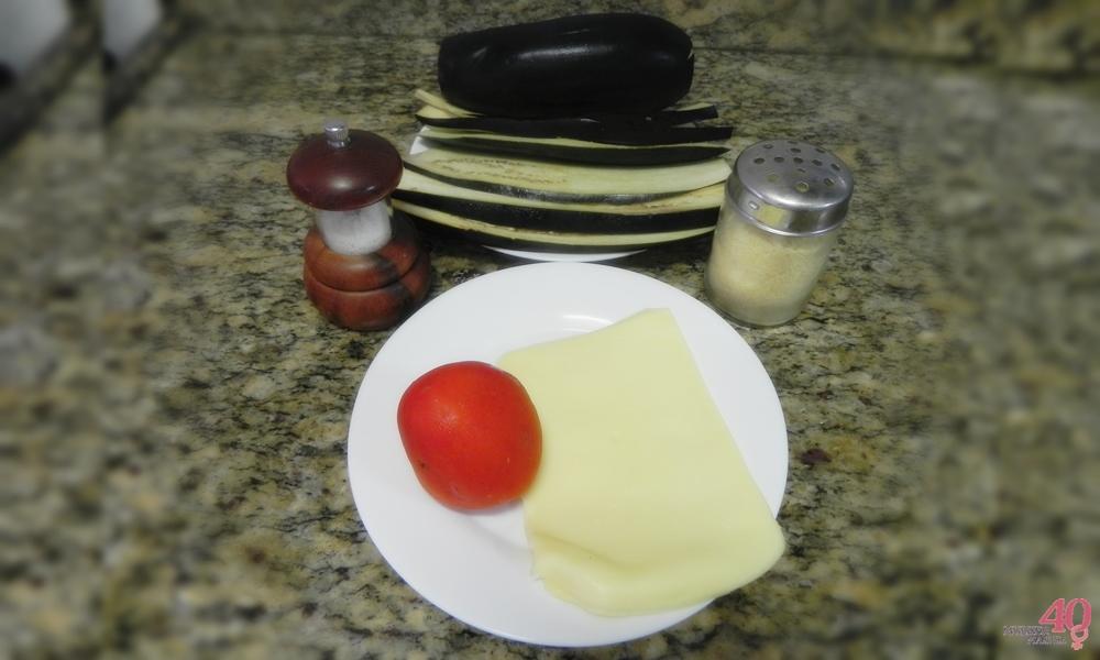 Receita low carb - Berinjela à Parmegiana Ingredientes